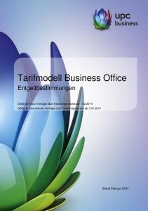 Tarifmodell Business Office