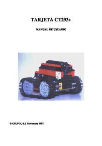 TARJETA CT293+ MANUAL DE USUARIO. GRUPO J&J. Noviembre 1997