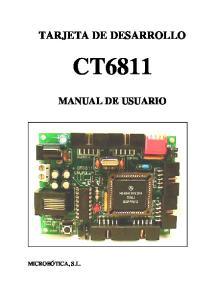 TARJETA DE DESARROLLO CT6811 MANUAL DE USUARIO