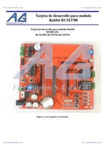 Tarjeta de desarrollo para modulo Rabbit RCM3700