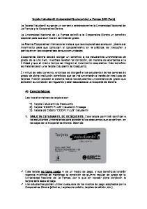 Tarjeta Estudiantil Universidad Nacional de La Pampa (UNLPam)