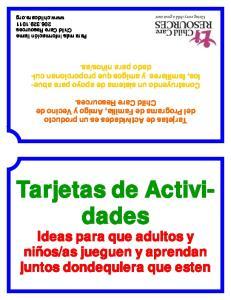 Tarjetas de Actividades