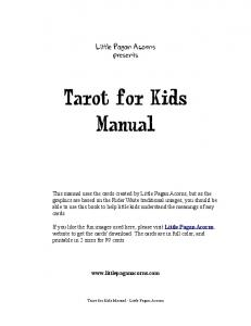 Tarot for Kids Manual