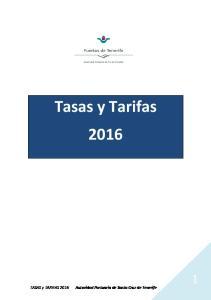 Tasas y Tarifas 2016