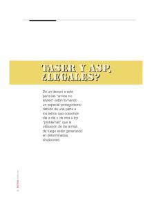 TASER Y ASP, LEGALES?