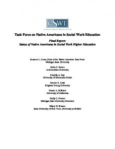 Task Force on Native Americans in Social Work Education