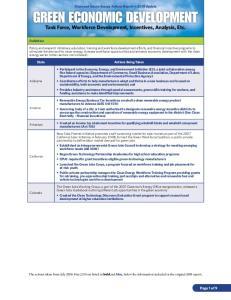 Task Force, Workforce Development, Incentives, Analysis, Etc