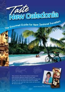 Taste. New Caledonia. Julie Le Clerc Gourmet Ambassador to New Caledonia