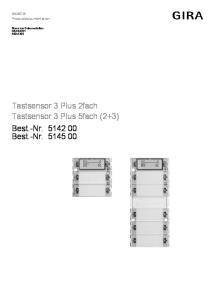 Tastsensor 3 Plus 2fach Tastsensor 3 Plus 5fach (2+3) Best.-Nr Best.-Nr