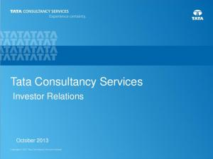 Tata Consultancy Services. Investor Relations