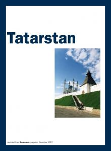 Tatarstan reprinted from Euromoney magazine, December 2007