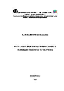 TATIANA MARTINS DE AQUINO