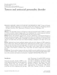 Tattoos and antisocial personality disorder