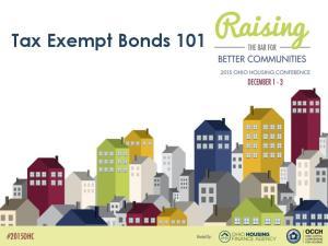 Tax Exempt Bonds 101