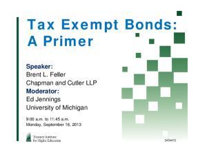 Tax Exempt Bonds: A Primer