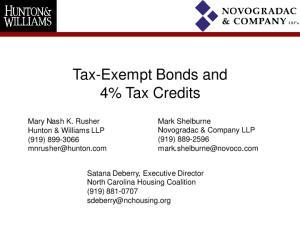 Tax-Exempt Bonds and 4% Tax Credits
