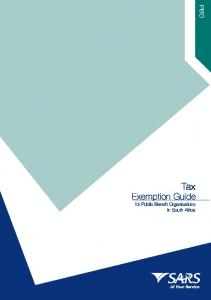 Tax. Exemption Guide. for Public Benefit Organisations in South Africa