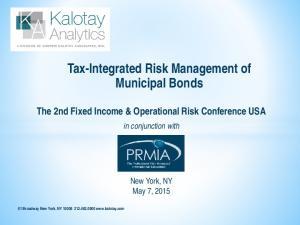 Tax-Integrated Risk Management of Municipal Bonds