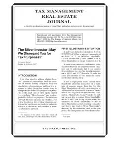 TAX MANAGEMENT REAL ESTATE JOURNAL