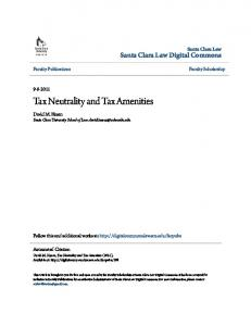 Tax Neutrality and Tax Amenities