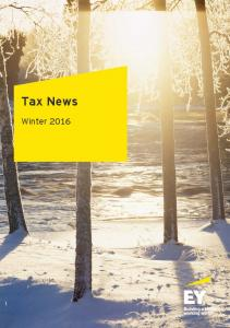 Tax News. Winter 2016