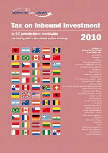 Tax on Inbound Investment