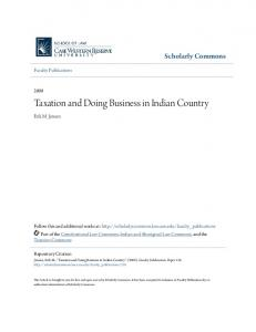 Taxation and Doing Business in Indian Country