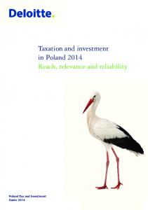 Taxation and investment in Poland 2014 Reach, relevance and reliability