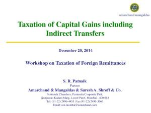 Taxation of Capital Gains including Indirect Transfers