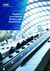 Taxation of Cross-Border Mergers and Acquisitions