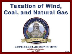 Taxation of Wind, Coal, and Natural Gas