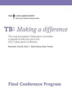 TB: Making a difference