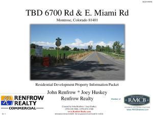 TBD 6700 Rd & E. Miami Rd Montrose, Colorado 81401