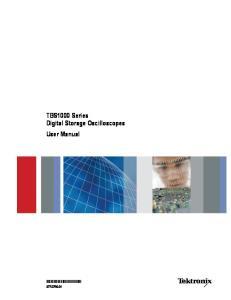 TBS1000 Series Digital Storage Oscilloscopes User Manual