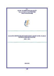 T.C. ÇEVRE VE ŞEHİRCİLİK BAKANLIĞI Tapu ve Kadastro Genel Müdürlüğü Teftiş Kurulu Başkanlığı