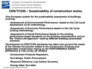 TC350 Sustainability of construction works