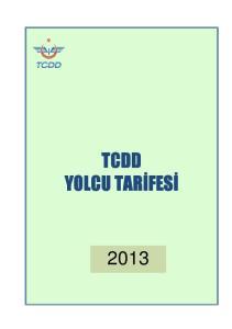 TCDD YOLCU TARİFESİ