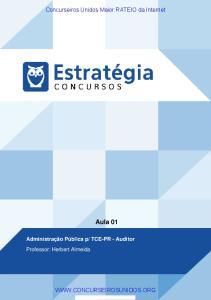 TCE-PR - Auditor Professor: Herbert Almeida