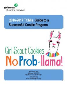 TCM s Guide to a Successful Cookie Program