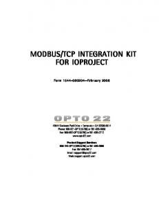 TCP INTEGRATION KIT FOR IOPROJECT