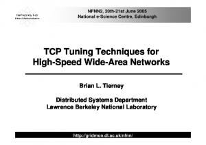 TCP Tuning Techniques for High-Speed Wide-Area Networks