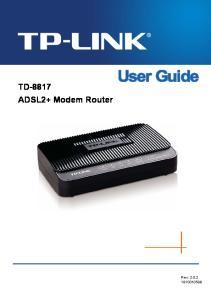 TD-8817 ADSL2+ Modem Router