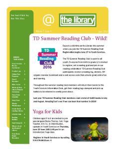 TD Summer Reading Club - Wild!