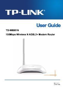 TD-W8901N 150Mbps Wireless N ADSL2+ Modem Router