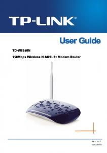 TD-W8950N 150Mbps Wireless N ADSL2+ Modem Router