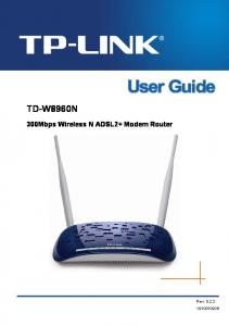 TD-W8960N 300Mbps Wireless N ADSL2+ Modem Router