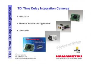TDI Time Delay Integration Cameras