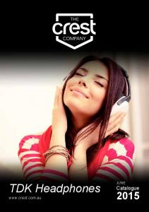 TDK Headphones.  JUNE Catalogue