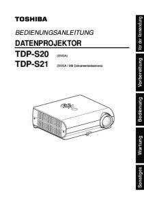 TDP-S20 (SVGA) TDP-S21