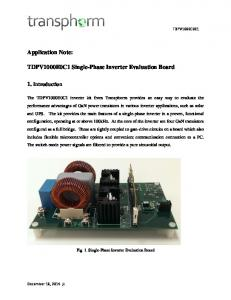 TDPV1000E0C1 Single-Phase Inverter Evaluation Board